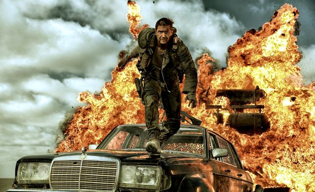 Mad Max's Tom Hardy leaps from exploding car