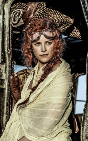 Mad Max's Riley Keough stares out from vehicle