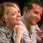 Aloha's Emma Stone and Bradley Copper share a laugh