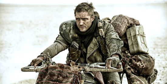 Mad Max's Tom Hardy rides bike in desert