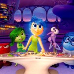 Inside Out's 5 emotions Anger, Disgust, Joy, Fear & Sadness rule the console inside a little girl's head