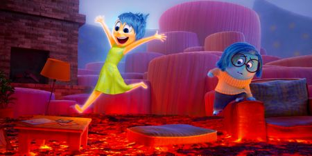 Inside Out's Joy and Sadness navigate Imagination Land