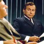 Best of Enemies' Gore Vidal listens as William F. Buckley debates him