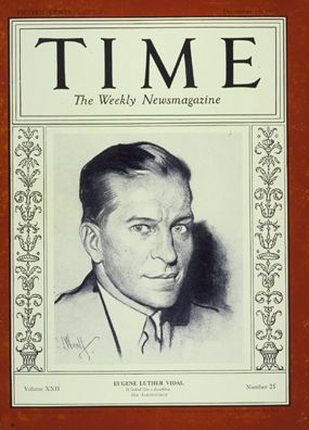 Gore VIdal's portrait on cover of Time magazine in 1933