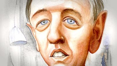 Artist's sketch of William F. Buckley during his heyday