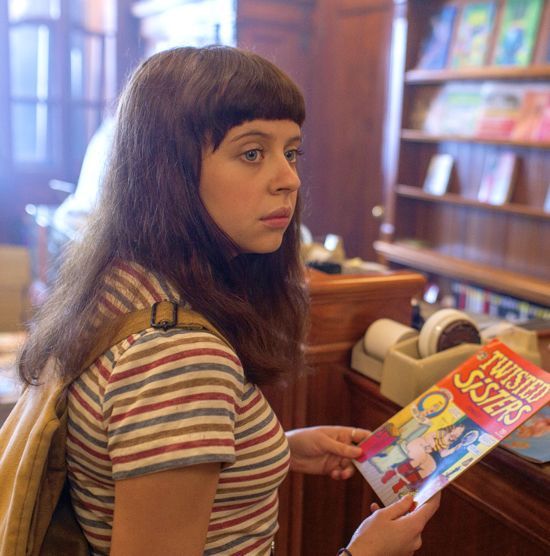 Diary of Teenage Girl's Bel Powley buys Twisted Sister comic in comic book store