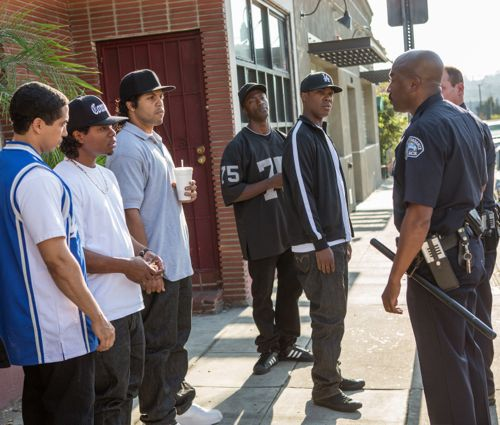 N.W.A. rappers in Straight Outta Compton get harassed by police