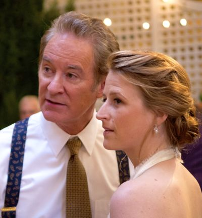 Ricki and Flash's Kevin Kline and Mamie Gummer look to their right