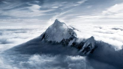 View of Everest's star, the Mount itself
