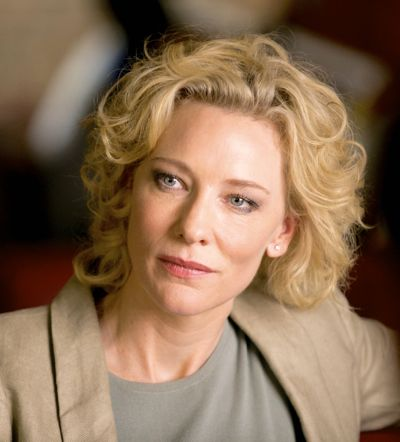 Truth's Cate Blanchett looks off camera to left