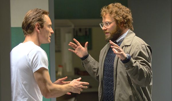 Steve Jobs' Michael Fassbender and Seth Rogen argue backstage
