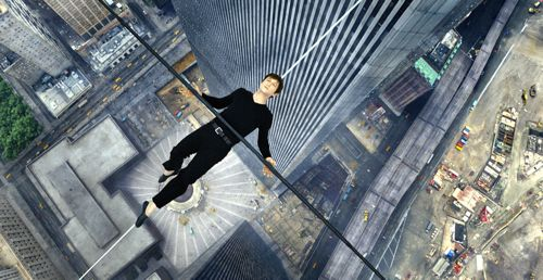 Walk's Joseph Gordon-Levitt lies down on high-wire cable between twin towers