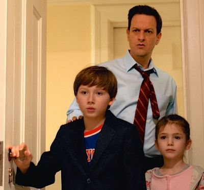 I Smile Back's Josh Charles and his kids open bathroom door to discover mom's in bad shape