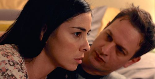 I Smile Back's Sarah Silverman and Josh Charles discuss her addictions while lying on bed