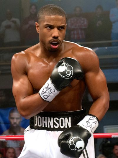 Creed's Michael B. Jordan approaches opponent in boxing ring