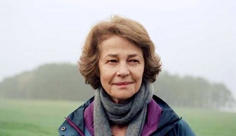 45 Years' Charlotte Rampling gazes to her left in countryside