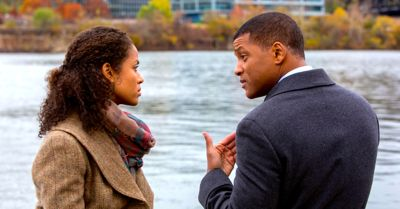 Concussion's Gugu Mbatha-Raw talks by river with Will Smith