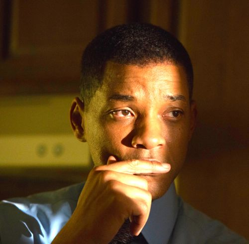 Concussion's Will Smith has a pensive moment