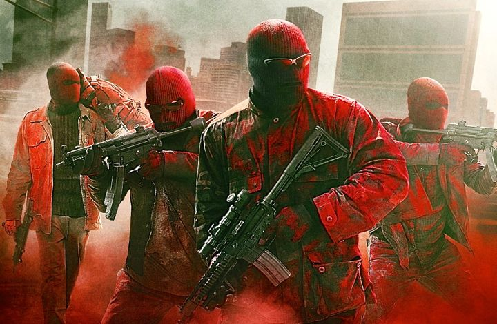 Triple 9's masked, costumed cops burst into bank