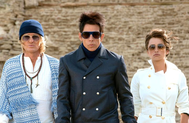 Zoolander 2's Owen Wilson, Ben Stiller, Penelope Cruz face the camera with their high fashion blazing