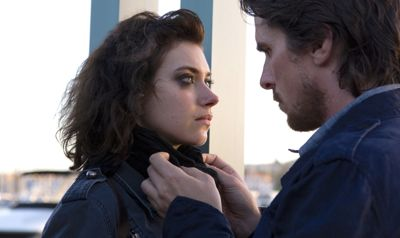 Knight of Cup's Imogen Poots looks into eyes of Christian Bale