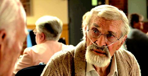 Remember's  Martin Landau wearing oxygen nose tube looks at Christopher Plummer