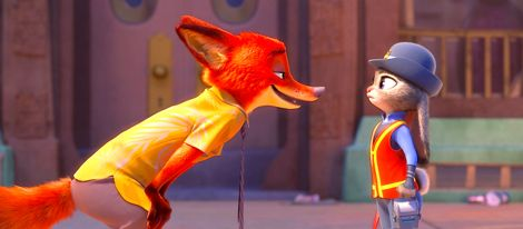 Zootopia's first bunny officer Judy Hopps finds herself face to face with a fast-talking, scam-artist fox in Walt Disney Animation Studios' Zootopia