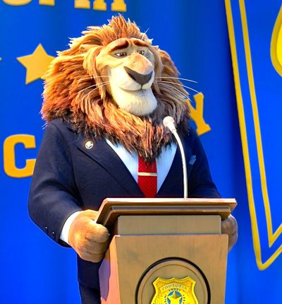 Zootropia's Leodore Lionheart addresses police cadets on graduation