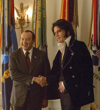 Elvis & Nixon's Michael Shannon, Kevin Spacey pose in Oval Office