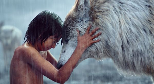 Jungle Book's Neel Sethi places head against wolf mother Raksha (Lupita Nyong'o)