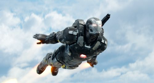 Captain America's Don Cheadle takes to the sky as War Machine