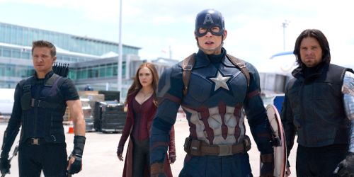 Captain America: Civil War's Jeremy Renner, Elizabeth Olsen, Sebastian Stan, Chris Evans face foes at Leipzig Airport