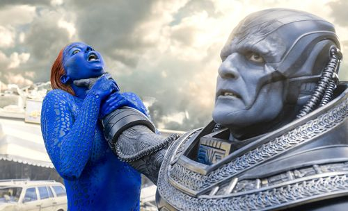 X-Men: Apocalypse's Oscar Isaac strangles Jennifer Lawrence with huge right hand