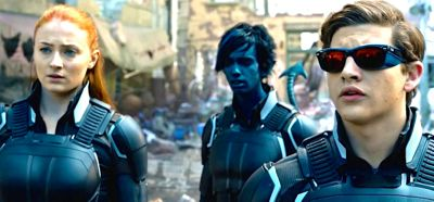 X-Men: Apocalypse's Sophie Turner, Kodi Smit-McPhee, Tye Sheridan stare at destruction caused by Apocalypse
