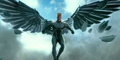 X-Men: Apocalypse's Ben Hardy as Archangel flies with damanged wings