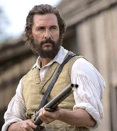 "Free State of Jones;"" Matthew McConaughey holds rifle against unseen Southern Rebel opponents"