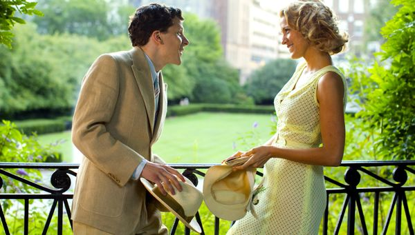 Cafe Society's Blake Lively, Jessie Eisenberg flirt in New York park