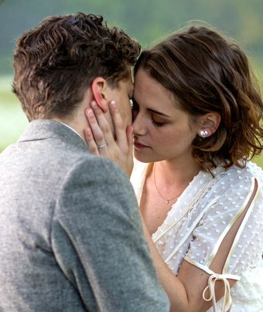 Woody Allen's Cafe Society's Jessie Eisenberg and Kristen Stewart kiss