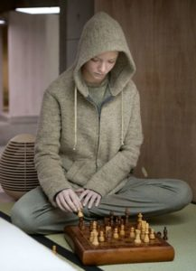 Morgan's lonely and imprisoned Anya Taylor-Joy plays chess with herself