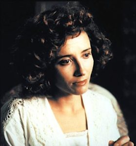 Howards End's Emma Thompson looks to her left