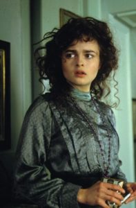Howards End's Helena Bonham Carter stands in doorway
