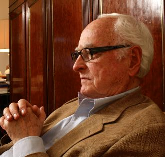 Director James Ivory on set of Howards End