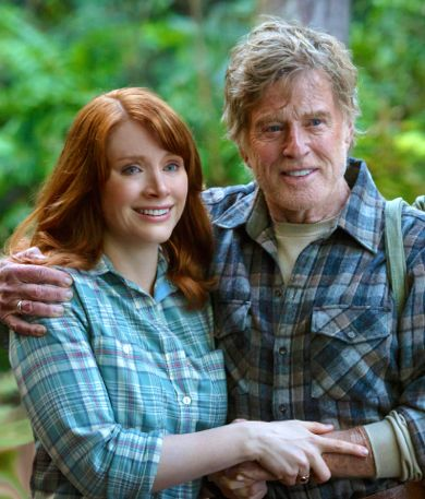 Pete's Dragon's Robert Redford has arm around Bryce Dallas Howard
