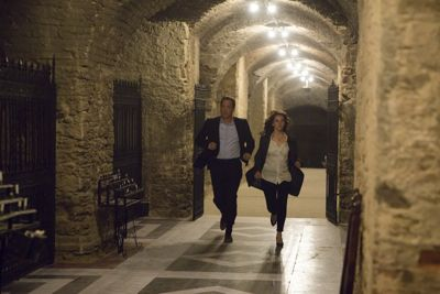 Inferno's Tom Hanks and Felicity Jones run through the crypt of St Mark's Basilica
