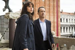 Inferno's Tom Hanks and Felicity Jones on teh balcony of St. Marks Basilica in Venice