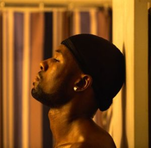 Moonlight's Trevante Rhodes looks up