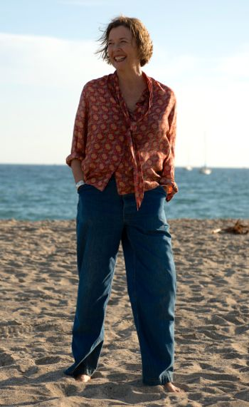 20th Century Women's Annette Bening relaxes on So. California beach