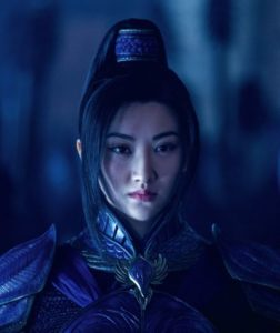 Great Wall's Jing Tian clad in blue prepares to battle invading monsters
