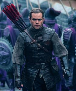 Great Wall's Matt Damon heads to battle with bow and many red-tipped arrows at his back