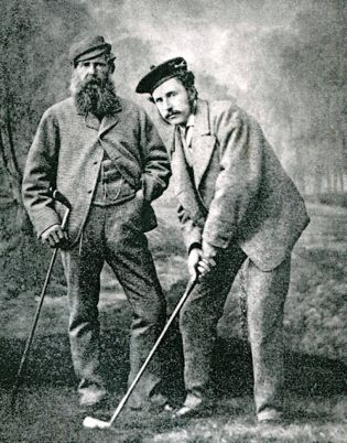 Tom Morris Sr & Jr in historic black-and-white photo